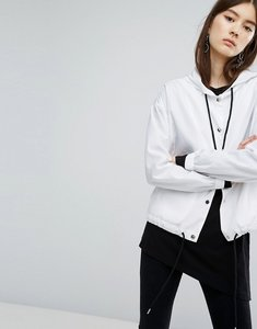 Read more about Dr denim drawstring hooded jacket - white