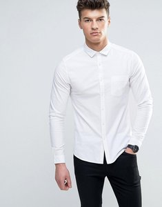 Read more about Asos casual skinny oxford shirt in white - white