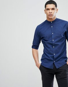 Read more about Jack jones premium slim fit grandad collar shirt - sargasso sea