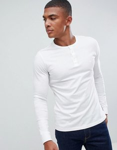 Read more about French connection henley long sleeve top - white