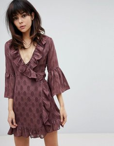 Read more about Religion wrap front dress - burgundy