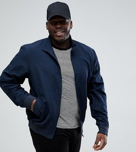 Read more about Brave soul plus summer lined harrington jacket - navy
