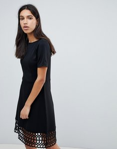 Read more about Y a s crochet hem dress - black