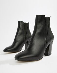 Read more about Asos design evita leather chelsea boots - black leather