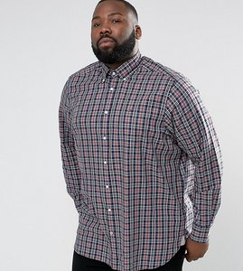 Read more about Tommy hilfiger plus check shirt buttondown regular fit in grey heather - silver forest hthr