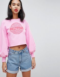 Read more about Uncivilised meltdown balloon sleeve sweater - pink