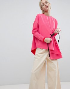 Read more about Asos white rope detail sweat top - pink