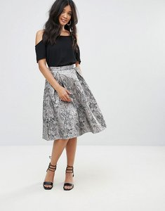 Read more about Glamorous jacquard a line skirt - pewter jacquard