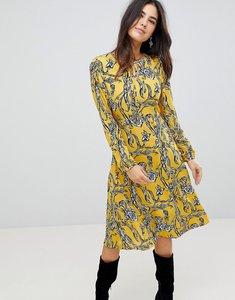 Read more about Ax paris floral print midi dress - yellow