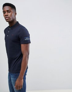 Read more about Gandy s navy ribbed classic polo shirt - navy