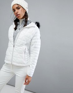 Read more about Dare2be endow padded ski jacket with fur hood - red