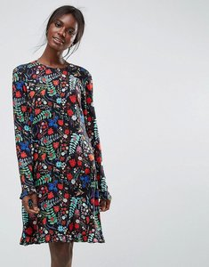 Read more about Y a s floral printed smock dress - multi