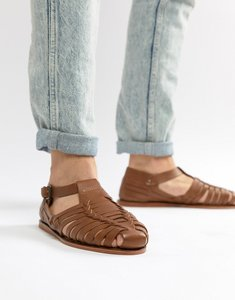 Read more about Dune woven sandals in tan leathe r - tan