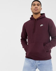 Read more about Nike club pullover hoodie in red 804346-653