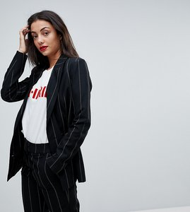 Read more about Vero moda tall pinstripe double breasted blazer - black
