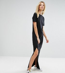 nice shoes fashionable and attractive package noveldesign asos tall tall basic tshirt casual maxi dress black - Shop ...
