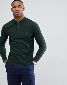 Read more about French connection long sleeve polo shirt - green