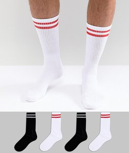Read more about Jack jones retro stripe socks in 4 pack - multi