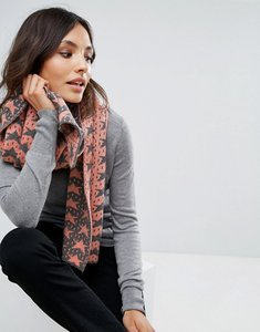 Read more about Alice hannah vertical star jacquard shawl - terracotta