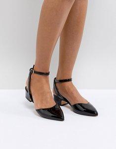 Read more about Aldo zewiel low heel pointed shoe in black - black