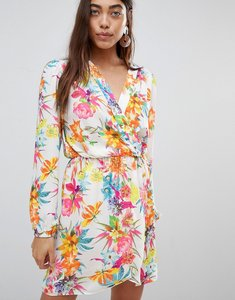 Read more about Love long sleeve wrap dress in tropical print - tropical print