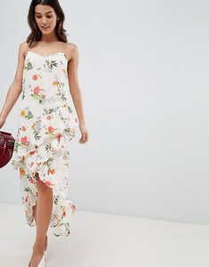 Read more about Vila floral printed wrap midi dress - multi