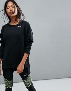 Read more about Nike running long sleeve top in black - black white