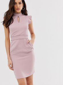 Read more about Paper dolls capped sleeve pencil midi dress with keyhole detail