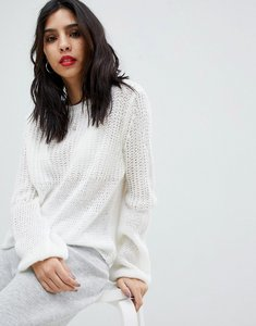 Read more about Micha lounge open knit oversized jumper - cream