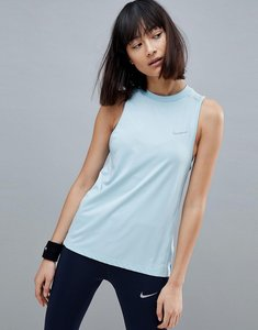 Read more about Nike running dry miler tank in blue - ocean bliss reflect