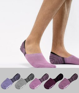 Read more about Asos design invisible liner socks with random feed design branded sole 5 pack - multi