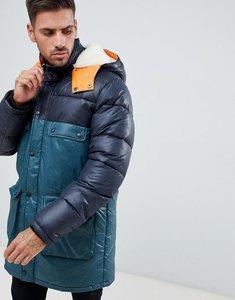69ef571860170 Read more about Asos design longline parka jacket with faux fur trim in  colour block -