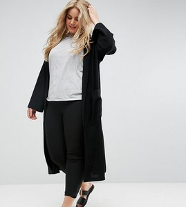 Read more about Asos curve edge to edge duster jacket - black