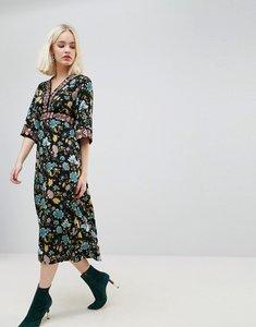 Read more about Hazel floral printed maxi dress - black print
