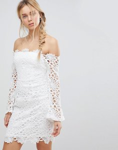 Read more about Glamorous off shoulder lace dress - white