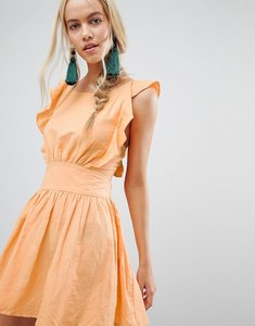 Read more about Free people new erwin frill shoulder dress - sun yellow