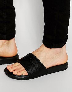 Read more about Nike benassi sliders in black 343880-001 - black