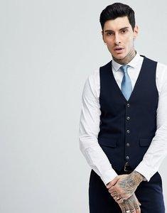 Read more about Harry brown navy basket weave slim fit suit waistcoat - navy