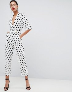 Read more about Asos soft tux jumpsuit in spot print - spot
