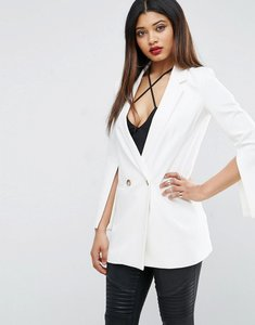Read more about Asos blazer with split sleeves - white