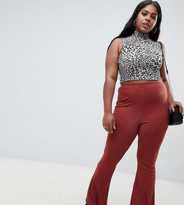 Read more about Asos design curve flare leggings in rib