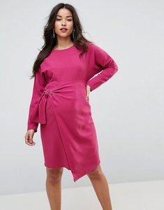Read more about Asos maternity batwing mini dress with wrap skirt - purple