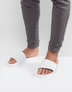 Read more about Slydes cali logo slider flip flops - white