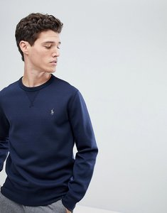 Read more about Polo ralph lauren crew neck sweatshirt with polo player logo in navy - navy
