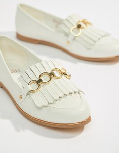 Read more about Faith fringe chain loafer - white pu