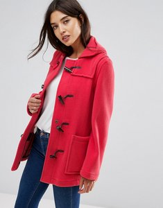Read more about Gloverall fitted pannelled wool duffle coat - rose