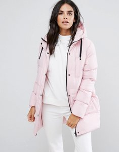 Read more about Brave soul mid padded coat - dusty pink
