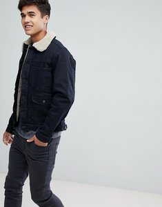Read more about Esprit denim jacket with borg lining - navy 911
