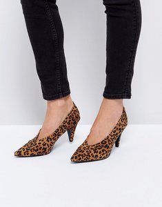 Read more about Raid amber leopard print kitten heeled shoes - leopard