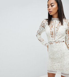 Read more about Missguided tall lace long sleeve bodycon mini dress - mint green